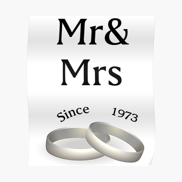 44th Wedding Anniversary Posters Redbubble
