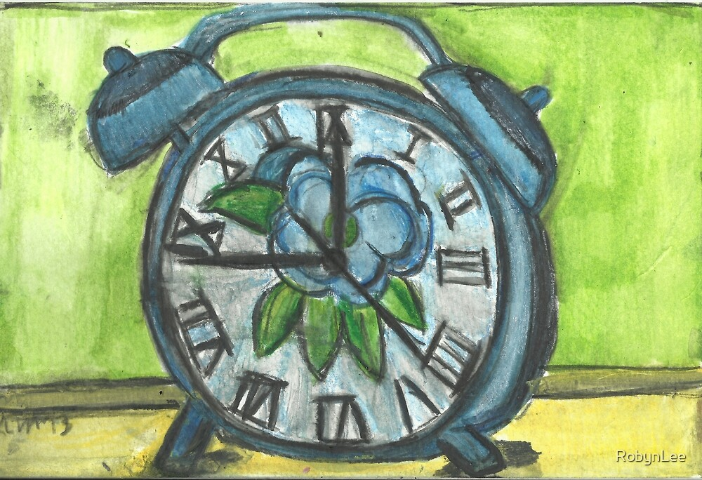 Alarm Clock In Blue by RobynLee