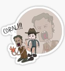 The Walking Dead Coral Sticker