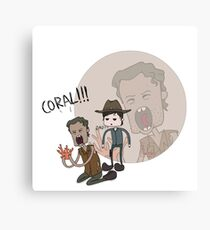 The Walking Dead Coral Canvas Print