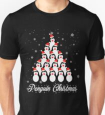 Penguin Christmas Tree With Snow Funny Xmas Tshirt T-Shirt