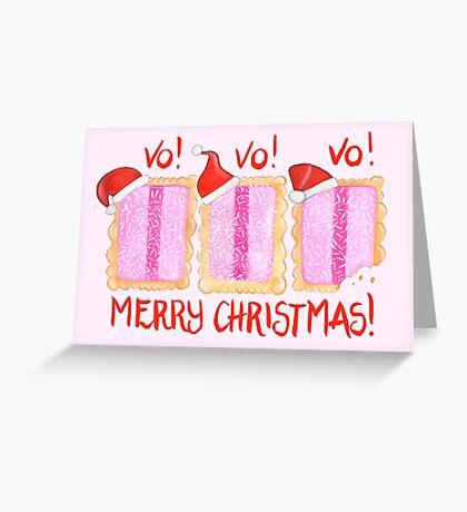 Iced VoVo - VO VO VO! Merry Christmas! Greeting Card