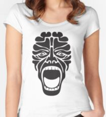 terrifying scream Women's Fitted Scoop T-Shirt