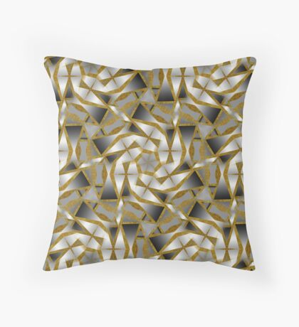 Winter Shades of Gray Pattern T1 Throw Pillow