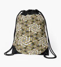 Winter Shades of Gray Pattern T1 Drawstring Bag