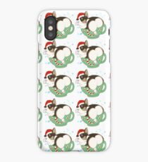 Peppermint Mocha Pup iPhone Case/Skin