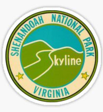 Shenandoah National Park Retro Travel Decal Virginia, USA Sticker