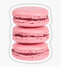 3 Pink Macaroons Sticker