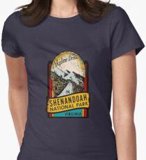 Shenandoah National Park Skyline Drive Vintage Travel Decal  Women's Fitted T-Shirt