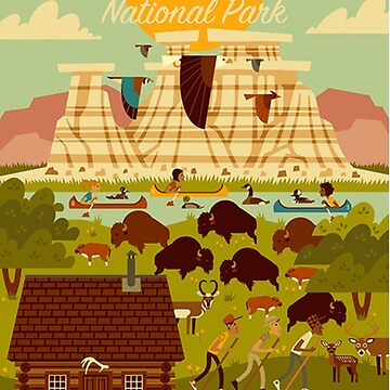 Theodore Roosevelt National Park Travel Decal North Dakota by MeLikeyTees