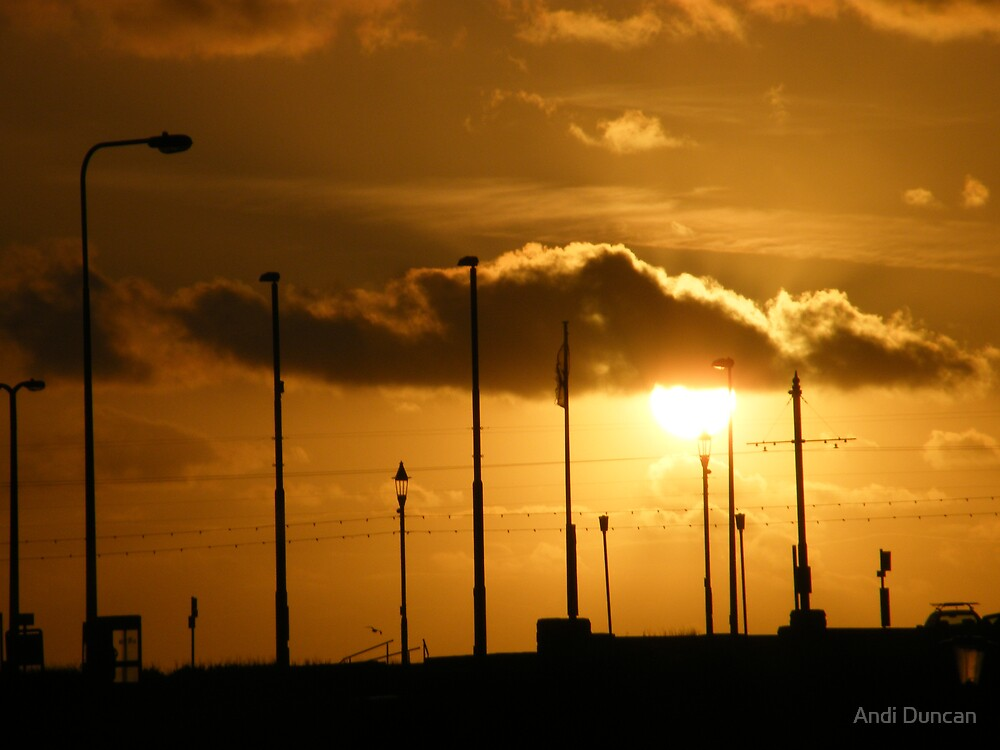 Sunset at Blackpool by Andi Duncan