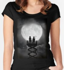 Play Moon Women's Fitted Scoop T-Shirt