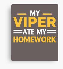 My Viper Ate My Homework Canvas Print