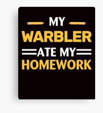 My Warbler Ate My Homework Canvas Print