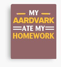 My Aardvark Ate My Homework Canvas Print