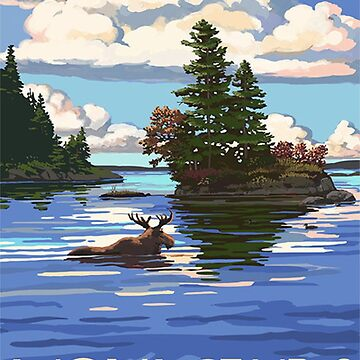 Voyageurs National Park Minnesota, USA Travel Decal by MeLikeyTees