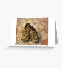 Vincent Van Gogh Shoes Greeting Card