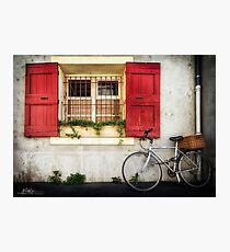 Fenêtre et Vélo (Bike and Window) Photographic Print