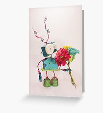 Malovat Holding Some Colorful Flower Greeting Card