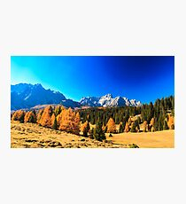 Autumn trekking in the alpine Pusteria valley Photographic Print