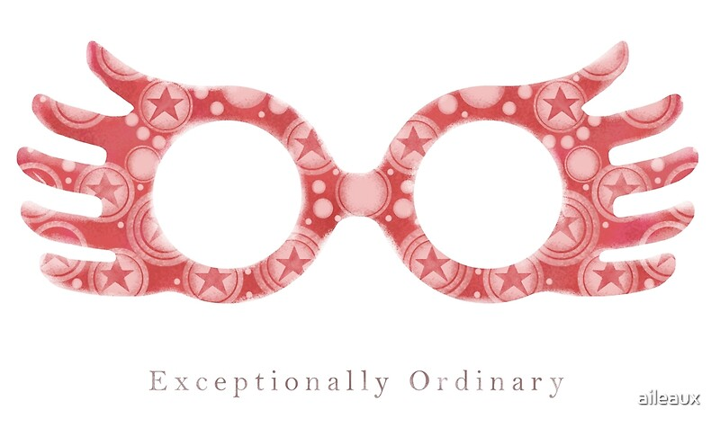 photo regarding Luna Lovegood Glasses Printable named Amazingly Everyday - Luna Lovegood Artwork Print