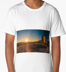 colorful autumn sunset in the italian countryside Long T-Shirt