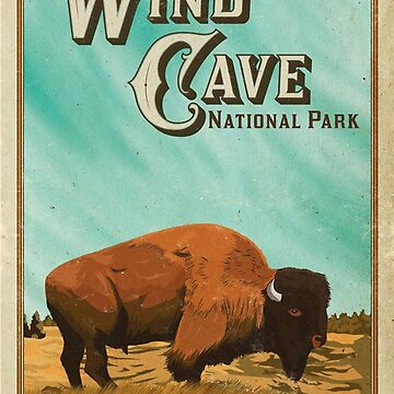 Wind Cave National Park South Dakota Travel Decal by MeLikeyTees