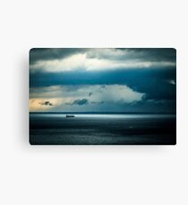 Storm is coming in the gulf of Trieste Canvas Print