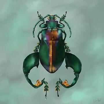 Green Beetle by Ela Steel by elasteel