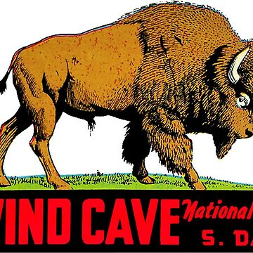 Wind Cave National Park Vintage Travel Decal by MeLikeyTees