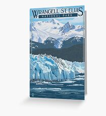 Wrangell - St. Elias National Park and Preserve Alaska USA Travel Decal Greeting Card