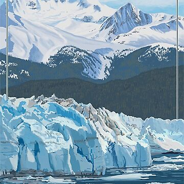 Wrangell - St. Elias National Park and Preserve Alaska USA Travel Decal by MeLikeyTees