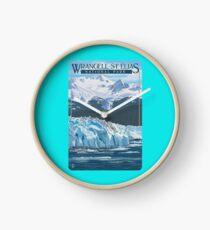 Wrangell - St. Elias National Park and Preserve Alaska USA Travel Decal Clock