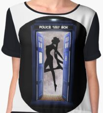 Tardis Sailor Moon Women's Chiffon Top