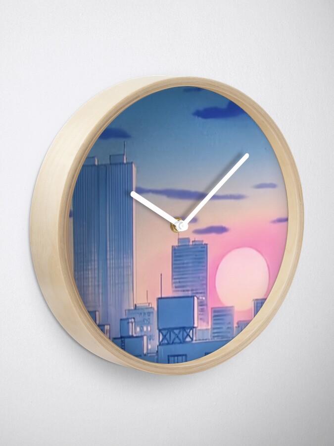 Alternative Ansicht von Sailor Moon City Landschaft Uhr