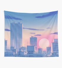 Sailor Moon Stadtlandschaft Wandbehang