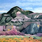 Ghost Ranch mountains by ria hills