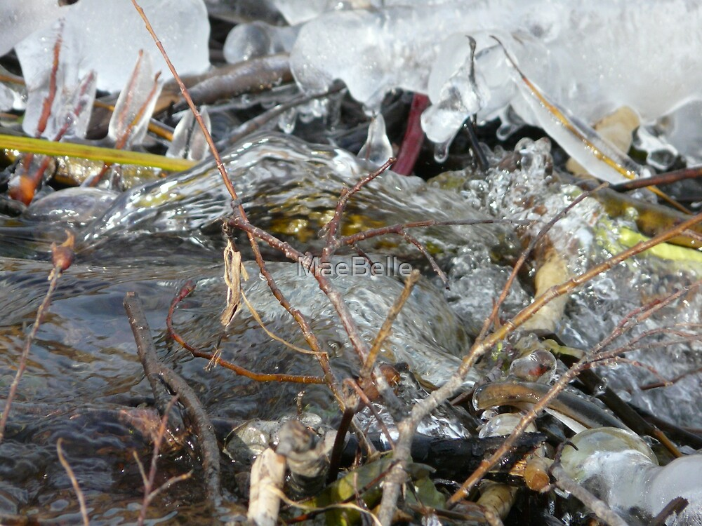 Ice Forming on the River by MaeBelle