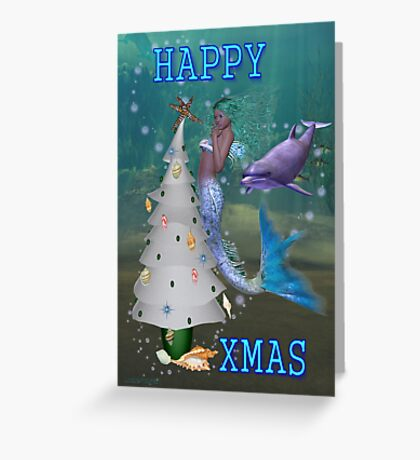 Mermaid Christmas Greeting Card