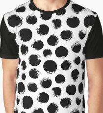 Grunge Polka Dot Graphic T-Shirt