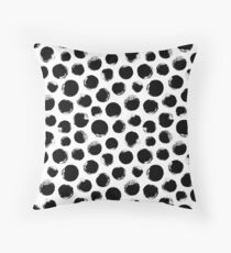 Grunge Polka Dot Throw Pillow