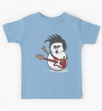 Cute Electric Guitar Disguised Snowmen Kids Clothes