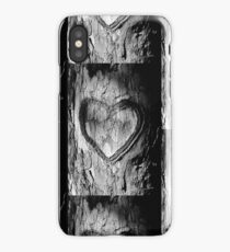 Tree Heart Black and White iPhone Case/Skin
