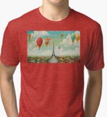 Ballooning Over Paris Tri-blend T-Shirt