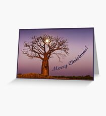 Moonlight Christmas Greeting Card