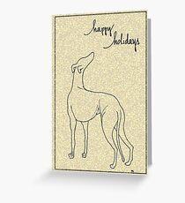 Holiday Greyhound Look Greeting Card
