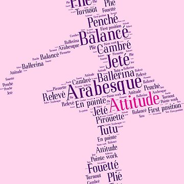 Ballet Typography : Purple - Pink by KingdomArt101