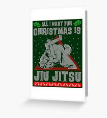 Jiu Jitsu Ugly Christmas Sweater Greeting Card
