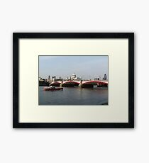 Waterloo Bridge, London, England Framed Print