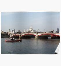 Waterloo Bridge, London, England Poster